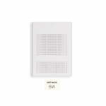 1500W Wall Fan Heater, Up To 175 Sq.Ft, 5119 BTU/H, 120V, Soft White
