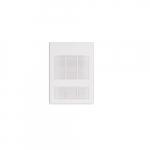 3000W Wall Fan Heater, Single Unit, 24V Control, 240V/208V, White