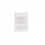 3000W Wall Fan Heater, Single Unit, 24V Control, 480V, White