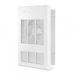 4800W Wall Fan Heater w/ 240V Control, Single Unit, 16381 BTU/H, 277V, Stainless Steel