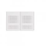 6000W Wall Fan Heater, Double Unit, 24V Control, 240V/208V, White