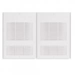 6000W Wall Fan Heater w/ Built-in Thermostat, Double Unit, 20476 BTU/H, 277V, St. Steel