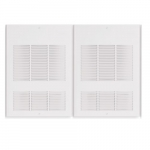 6000W Wall Fan Heater w/ Built-in Thermostat, Double Unit, 20476 BTU/H, 277V, Off White