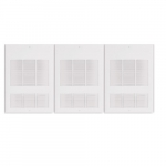 9000W Wall Fan Heater, Built-in Thermostat, Triple Unit, Soft White