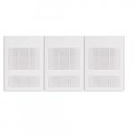 9000W Wall Fan Heater, Triple Unit, 24V Control, 208V, White