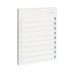 4000W Aluminum Wall Fan, 240 V, Silica White