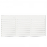 12000W Aluminum Wall Fan, Triple Unit, 24V Control, 240V/208V, White