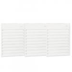 12000W Aluminum Wall Fan, Triple Unit, 24V Control, 480V, White