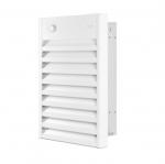 4800W Aluminum Wall Fan Heater, Single Unit, 16381 BTU/H, 277V, Off White