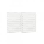 6000W Aluminum Wall Fan, Double Unit, 24V Control, 480V, Soft White