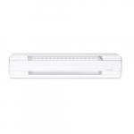 1000W/750W Electric Baseboard Heater, 240V/208V, Soft White