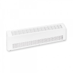 2000W Sloped Commercial Baseboard Heater, Medium Density, 480V, Soft White
