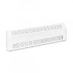 2000W Sloped Commercial Baseboard Heater, Medium Density, 480V, White