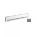 2000W 8ft. Aluminum Draft Barrier, Standard Density, 277V, Anodized Aluminum