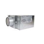 2000W Make-Up Duct Heater w/ Motorized Damper, 240V/208V, 1 Ph, Gray