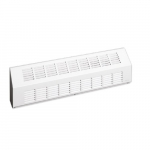 800W Sloped Architectural Baseboard Heater, Medium, 480V, White