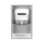 Recess Kit for SHDXL Xlerator Hand Dryer, Stainless Steel