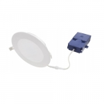 "6"" 12W LED Microdisk Downlight Kit, Phase-Cut Dimmable, 900 lm, 2700K, White"