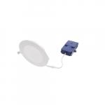 6-in 13W LED Microdisk Downlight, 120W Inc. Retrofit, 1100 lm, 3000K, White