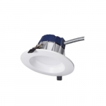 12W LED Recessed Downlight, Dimmable, 18W CFL Retrofit, 900 lm, 3500K, White