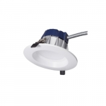 5/6-in 12W LED Downlight, 18W CFL Retrofit, Dimmable, 900 lm, 4000K