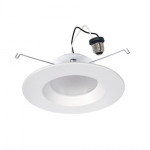 5/6-in 11W LED Downlight, Smooth, 900 lm, 120V, Selectable CCT