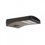 70W LED Shoebox Area Light, 175W MH Retrofit, Dim, Type III, 8100 lm, 4000K, Bronze