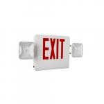 LED Emergency Exit Light Combo, 2-Head, Universal Face, 120V-277V