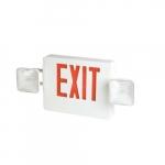 4W LED Emergency Exit Light Combo, 2-Head, Pack of Two, 120V-277V, White
