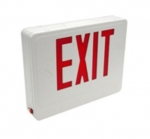 LED Emergency Exit Sign, White Housing w/Red Letters