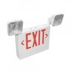 3.8W LED Emergency Exit Light Combo, Adjustable, 2-Head, 120V-277V