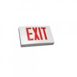 3.6W LED Exit Sign, Single-Face, Die Cast, AC Only, Red, 120V-277V, White