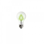1.5W Christmas Tree Shape LED A19 Bulb, Dimmable, Green