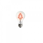 1.5W Christmas Tree Shape LED A19 Bulb, Dimmable, Red