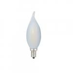 4W LED F11 Filament Bulb, Dimmable, E12, 120V, Clear Glass, 2700K