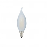 4W LED F11 Filament Bulb, Dimmable, E12, 120V, Frosted Glass, 2700K