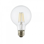 3W LED G16 Filament Bulb, Dimmable, E26, 120V, Clear Glass, 75 lm/W, 2200K