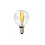 3W LED G16 Filament Bulb, Dimmable, E12, 120V, Clear Glass, 75 lm/W, 2200K