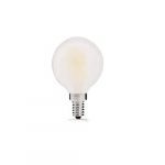 3W LED G16 Filament Bulb, Dimmable, E26, 120V, Frosted Glass, 2200K