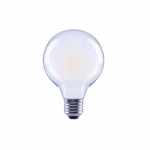 4W LED G25 Filament Bulb, Dimmable, E26, 120V, Frosted Glass, 5000K