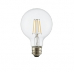 8W LED G25 Bulb, Dimmable, E26, 800 lm, 120V, 2700K, Clear