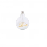 5W Love Shape LED G40 Bulb, Dimmable, Yellow