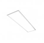 38W 1x4 LED Standard Flat Panel, Edge-lit, 0-10V Dimming, 4200 lm, 120V-277V, 3500K
