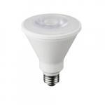 9W LED BR30 Bulb, Dimmable, E26, 650 lm, 120V, 3000K, Bulk
