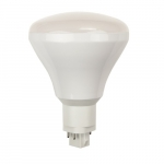 9W LED Vertical BR30 PL Bulb, Ballast Dependent, Dimmable, 2700K