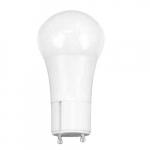 9.5W LED A19 Bulb, Dimmable, GU24 Base, 800 lm, 2700K