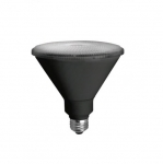 14W LED PAR38 Bulb, Narrow Flood, 3000K, 1100 Lumens, Black