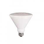 15W LED PAR38 Bulb, Dimmable, 975 lm, 3000K, White