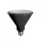 17W LED PAR38 Bulb, Flood, Dimmable, 1200 lm, 3500K, Black