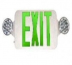 LED Emergency Exit Combo, Bug Eyes, White Housing w/Green Letters